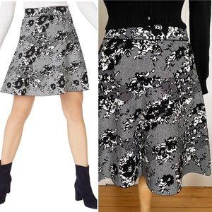 NWOT Club Monaco Kessi Skirt Black White Lace Knit